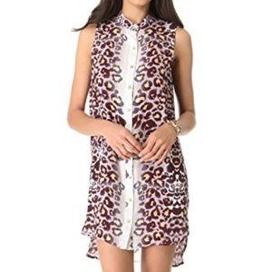 Mara Hoffman XS sleeveless button front dressshirt